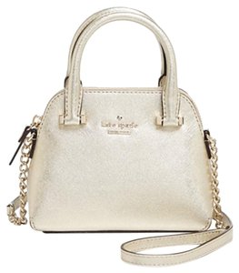 Kate Spade Leather Metallic Maise New With Cross Body Bag