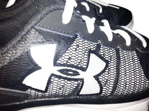 Under Armour Man Made Upper Leather Synthetic Rubber Black/White Athletic