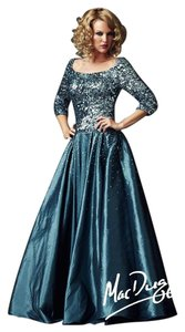 Mac Duggal Couture Gown Mother Of The Bride Sequined Size 12 Dress