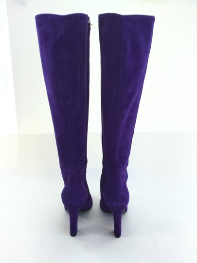 Tamara Mellon Suede Why Not Purple Boots