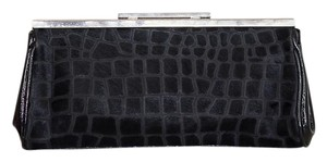 Nordstrom Leather Edgy Classic Black Clutch