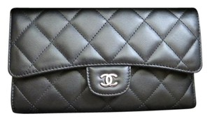 Chanel L Flap Lambskin Wallet