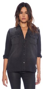 Current/Elliott Button Down Shirt Black