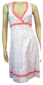 Lilly Pulitzer short dress Hot Pink and Orange Embroidered Floral on Tradesy
