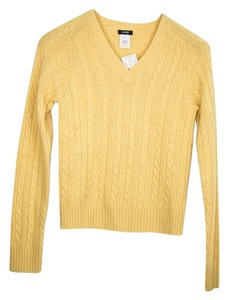J.Crew Classic Cable Knit V-neck Sweater