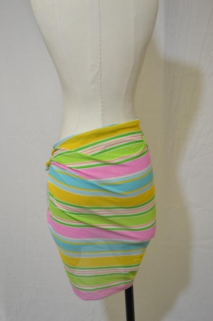 La Blanca La Blanca Multi Colored Striped Swimsuit Cover Up Wrap One Size Fits All.