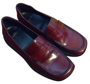 Coach Loafer Loafer Deep Red Flats