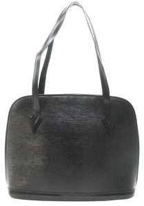 Louis Vuitton Lussac Epi Leather Tote Satchel in Black