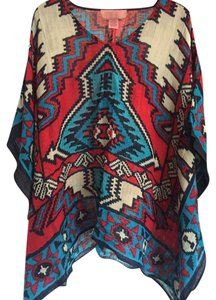 Theodora & Callum Chichen Itza scarf cover-up top