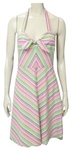 Trina Turk short dress Pink, Yellow, Green, Purple Halter Preppy on Tradesy