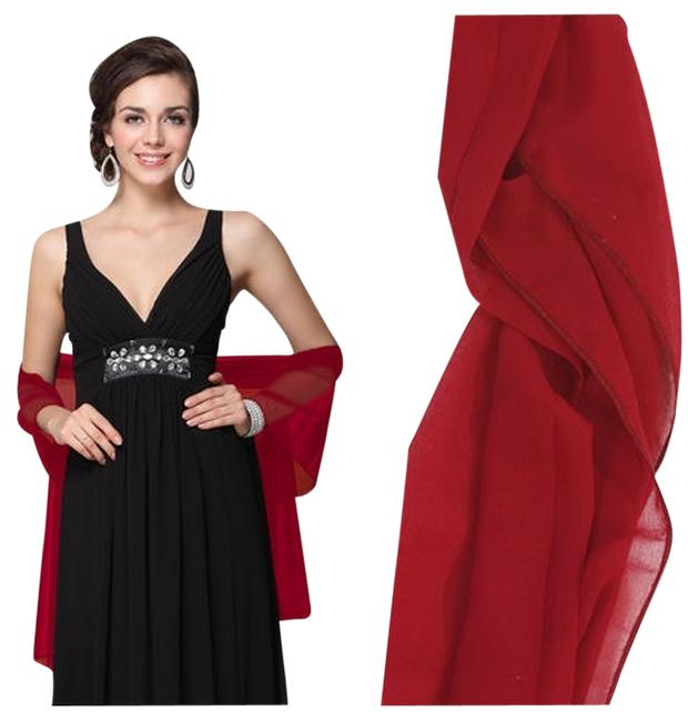 Item - Burgundy Party Shawls Scarves Long Formal Dress Size OS (one size)