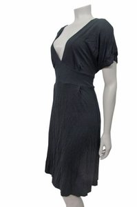 French Connection French Connection Maternity V-neck Fitted Waist Dress Black
