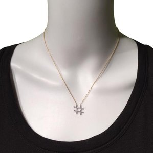 Jennifer Miller Jewelry JENNIFER MILLER Gold & Crystal Hashtag Necklace! *Current Style*