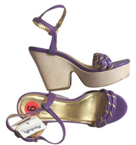 Kate Spade Sandal 6 Purple Platforms