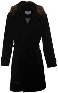 Andrew Marc Fur Trench Trench Coat