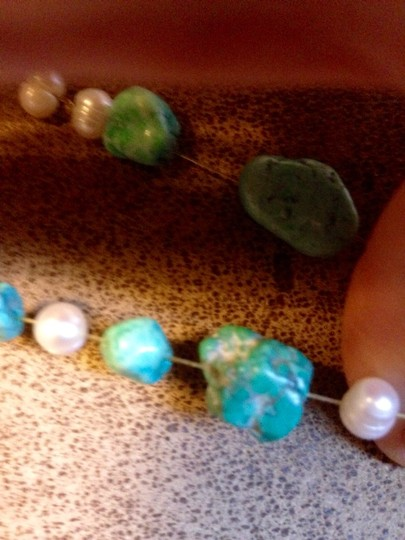Other Chunky Freshwater Pearl And Turquoise Nugget Bracelet