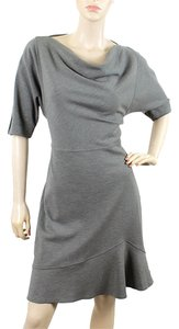 Derek Lam short dress Gray, Grey Trumpet Drape Draped Wool on Tradesy