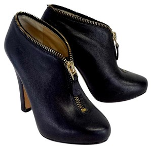 Diane von Furstenberg Black Leather Ankle Boots