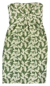 Tracy Reese short dress Green Leaf Print Strapless on Tradesy