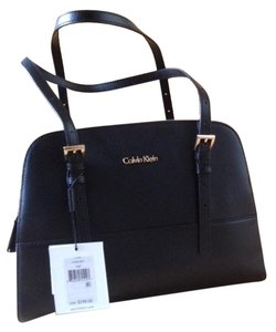 Calvin Klein Claudia Leather Satchel in black