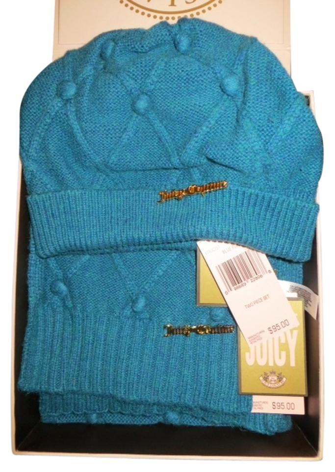 00e74e529240 Juicy Couture Blue Fox (Teal Blue) Matching and Scarf Set - Ytruc197 ...