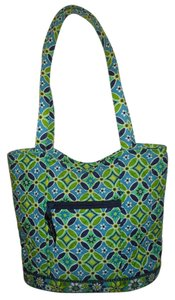 Vera Bradley Tote in blue, green, turquoise & navy print