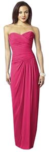 After Six Strapless Full Length Chiffon Dress