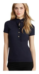 Tory Burch Logo T Shirt Navy