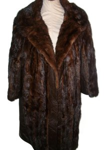 Other Vintage Fur 3/4 Sleeves Fur Coat