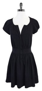 Diane von Furstenberg short dress Black Cap Sleeve on Tradesy