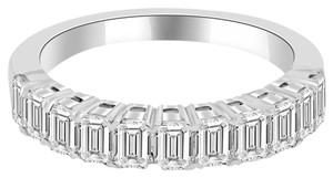 Avi and Co 2.10 cttw Emerald Cut Diamond Wedding Band 18K White Gold