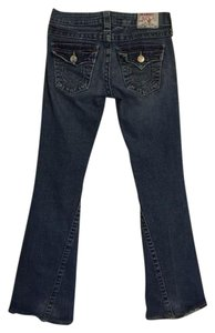 True Religion Joey Flap Pocket Low Rise Flare Leg Jeans-Distressed