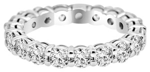 Avi and Co 3.83 cttw Round Brilliant Cut Diamond Common Prong Eternity Band 14K White Gold