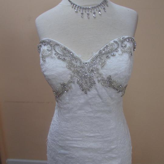 DaVinci Bridal Ivory Tulle/Lace 50234 Formal Wedding Dress Size 12 (L)