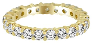 Avi and Co 2.20 cttw Round Brilliant Cut Diamond Common Prong Eternity Band 14K Yellow Gold