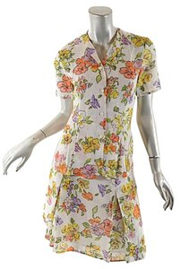 Luca Luca short dress Cream w/Multi Floral Silk on Tradesy