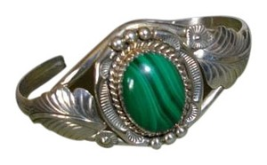 Other Beautiful Vintage Malachite Southwest Style Cuff Bracelet