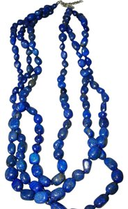 Mine Finds by Jay King Gorgeous Triple Strand Lapis Necklace