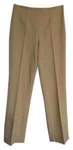 Ralph Lauren Dress Straight Leg Career Black Label Designer Trouser Pants Tan