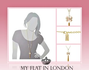 My Flat in London My Flat In London Miss Khloe Bow Necklace