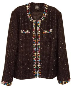 Berek Classy Sparkling Black with Silver thread and Multi-Colored Jewels Jacket