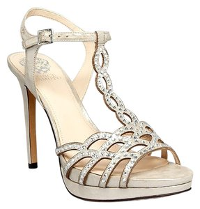 Vince Camuto Open Toe Studded Earl Grey Pumps