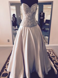 Allure Bridals Blush Satin C262 Traditional Wedding Dress Size 10 (M)