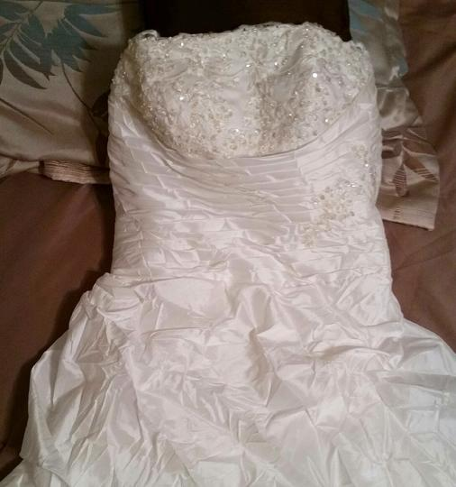 Ivory Taffeta Feminine Dress Size 10 (M)