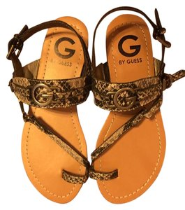 Guess Gray snake skin Sandals