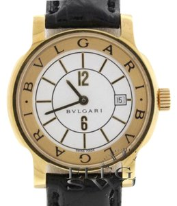 BVLGARI Bvlgari Solotempo 18K Yellow Gold Ladies Watch Ref. ST29G with Papers
