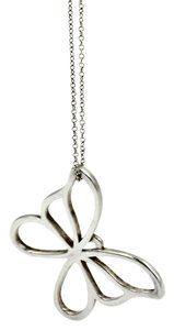 Tiffany & Co. Large Butterfly Pendant Necklace in 925 Sterling Silver Length 18