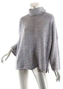 Eskandar Rolled Edges Tweed Turtleneck Sweater