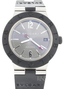 BVLGARI Bvlgari Diagono 18K White Gold Automatic Mens Watch ALW38G with Papers
