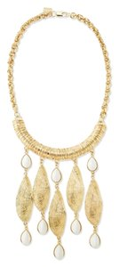 """Lilly Pulitzer NEW Lilly Pulitzer """"She Shells"""" Statement Necklace Gold White NWT $88"""